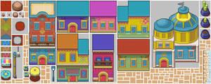 TOSTARENA tileset (1/2): My Pixel Odyssey #4 by WilsonScarloxy