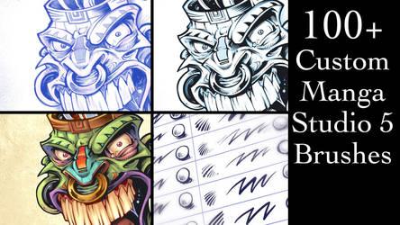 Custom Manga Studio 5 Brushes by flylanddesigns