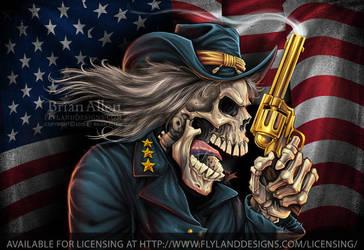 Yankee Pride Civil War Skull General-700px by flylanddesigns