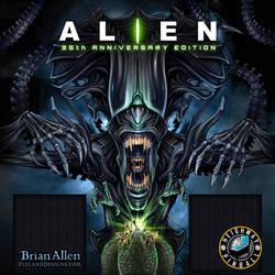 Official Alien Pinball Machine Back-glass Illustra by flylanddesigns