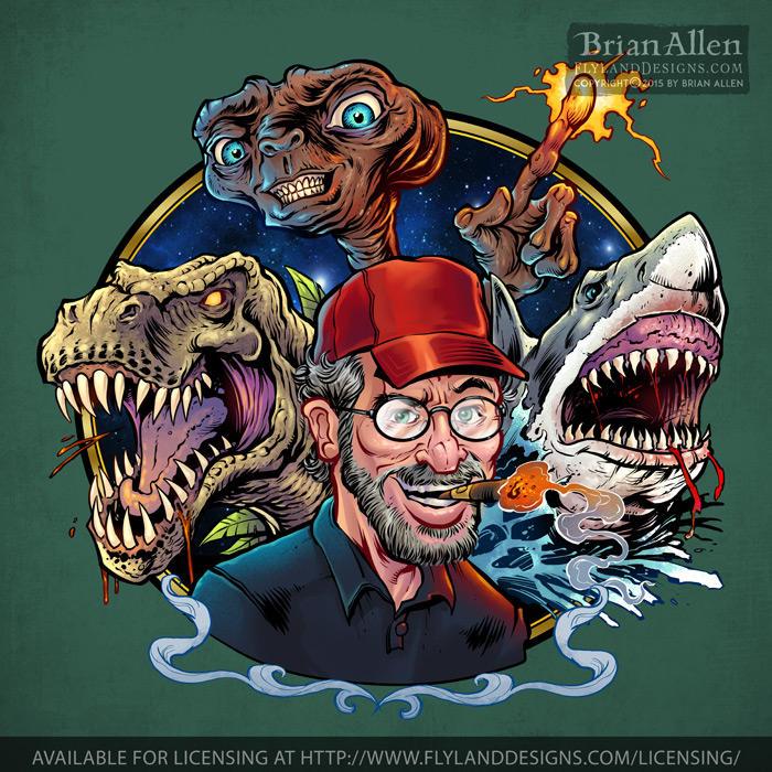 Stephen Spielberg Tribute-700px by flylanddesigns