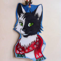Commission badge of an OC on Instagram by illuminatedface