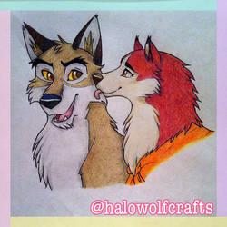 Balto and Jenna by illuminatedface