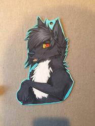 Custom Wolf badge commission  by illuminatedface