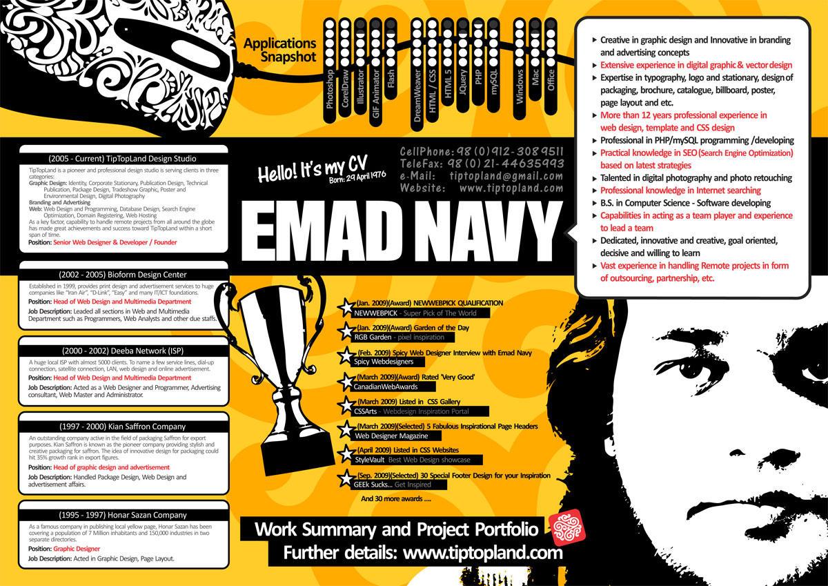 Emad Navy CV ( Resume ) by tiptopland