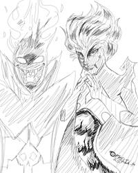 Christmas Gift 1: Demongo and Malicet by I-Am-The-Cold