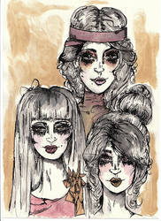Fashion faces by womanwithagun
