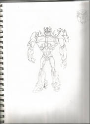 Transformers Prime: Optimus by Bumblebeeredhead97