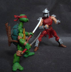 Shredder vs. Leonardo by Discogod