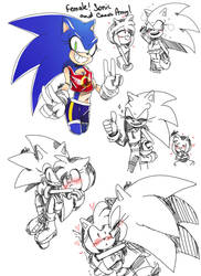 Fem! Sonic and Amz by Soso713705