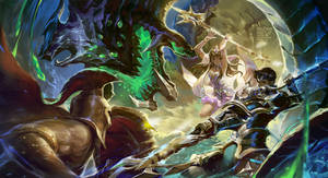 The combat by AkiZero1510