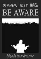 Zombieland Rule 5: Be Aware by TheEnderling