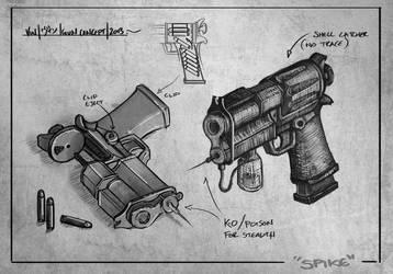 Spike Gun COncept by TheEnderling