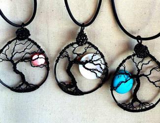 Full Moon Tree by terralumenjewelry