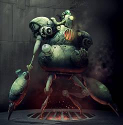steampunk bot design by Reza-ilyasa