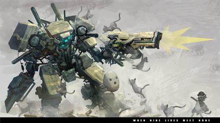 robot lawan kucing by Reza-ilyasa