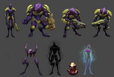 Lucid Wizard Gaming alien char by Reza-ilyasa