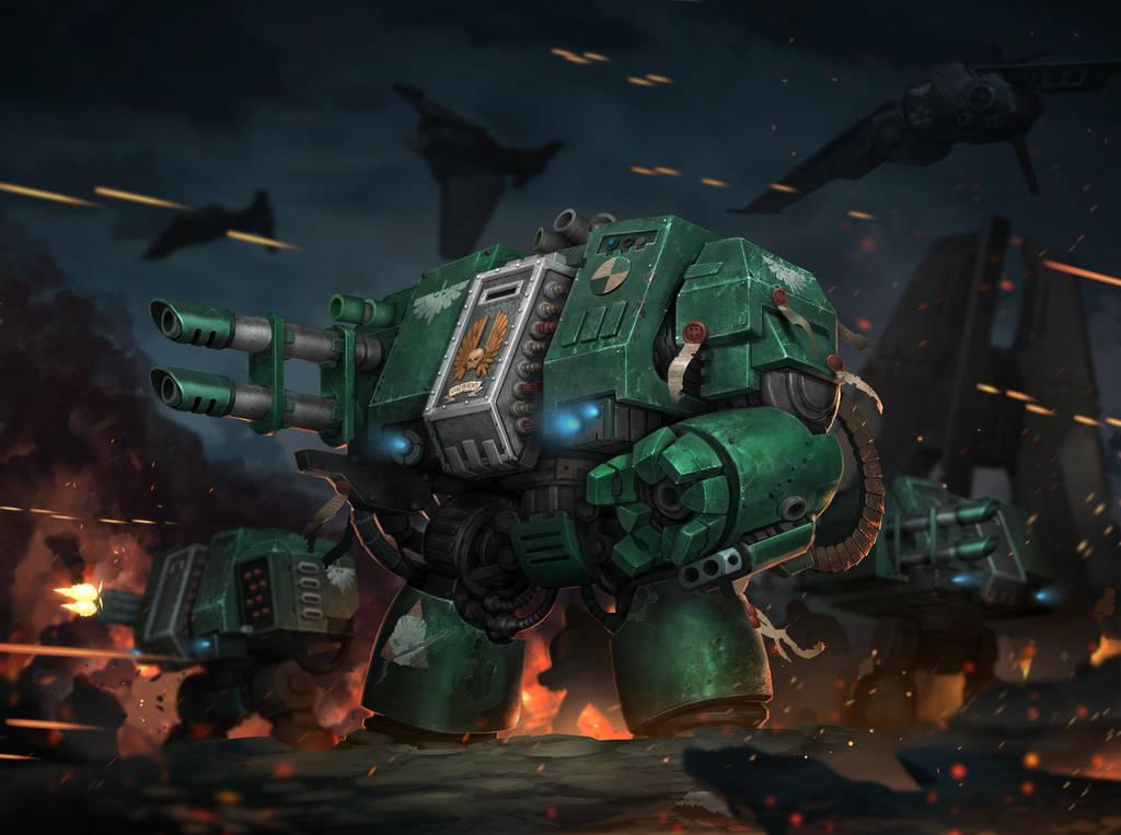 Dark Angels Dreadnoughts by Reza-ilyasa