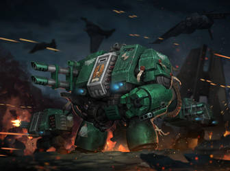 Dark Angels Dreadnoughts by Reza-ilyasa
