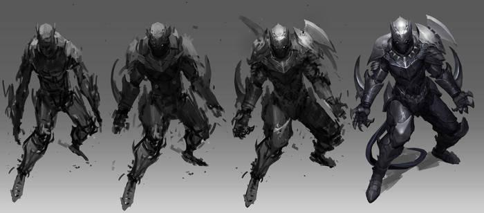 Black Panther process by Reza-ilyasa