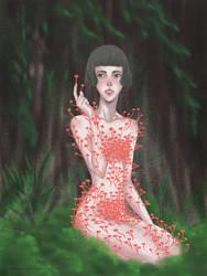 A melancholic mushroom by redcharcoal
