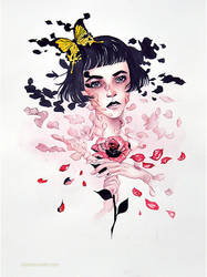 melting petals and skin like wax by redcharcoal