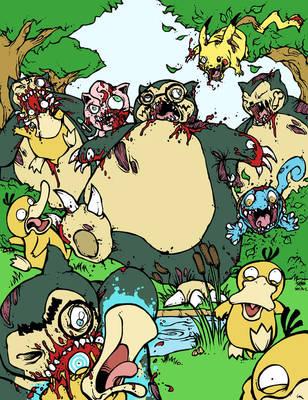 Zombemon #004: Zombie Snorlax by GenghisKrahn