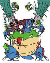 Zombemon #008: Zombie Blastoise by GenghisKrahn