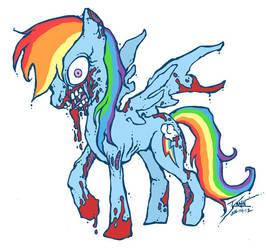 My Little Zombie - Rainbow Dash by GenghisKrahn