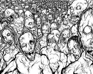 Zombie Horde by GenghisKrahn