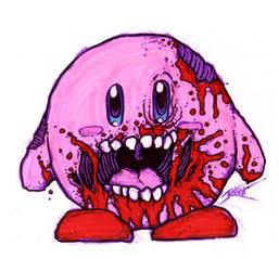 Zombie Kirby. by GenghisKrahn