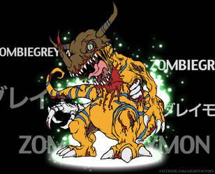ZOMBIEGREYMON! by GenghisKrahn