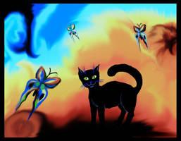 Psychedelic cat p2 by fiamen