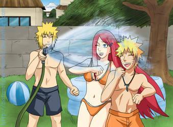 Naruto Kushina Minato Water by BotanofSpiritWorld