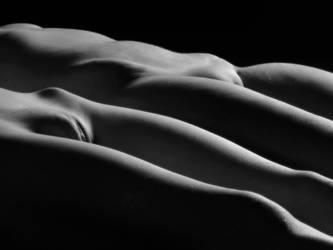 0851 Two Nude Women Vulva Illuminated in Soft Ligh by artonline