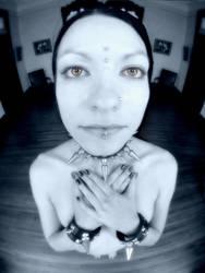 3742-MAK Beautiful Pierced Woman in Spike Collar by artonline