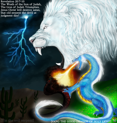 Name of Painting: THE WRATH OF THE LION OF JUDAH, by TheHolySpiritSpeaks