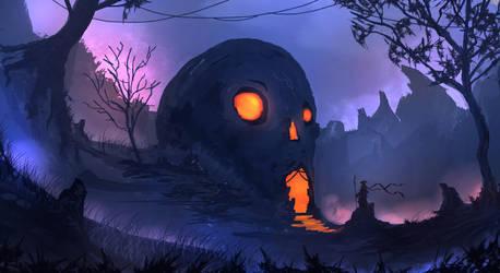 Skull Lair by TacoSauceNinja
