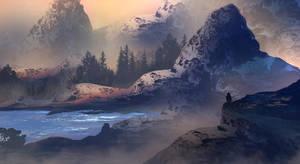 Mountain Lake by TacoSauceNinja