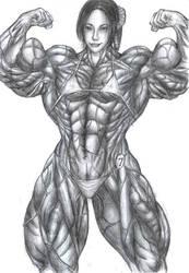 Bodybuilder Dawn by Rhinehartd