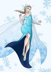 Disney Frozen - Queen Elsa by KayameYuri