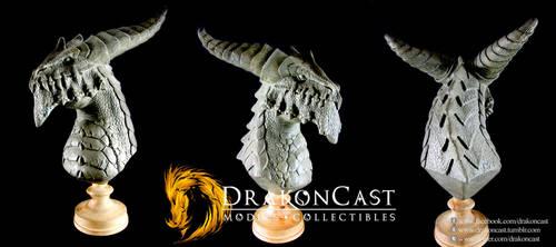 Vile Dragon bust final sculpt by drakoncast