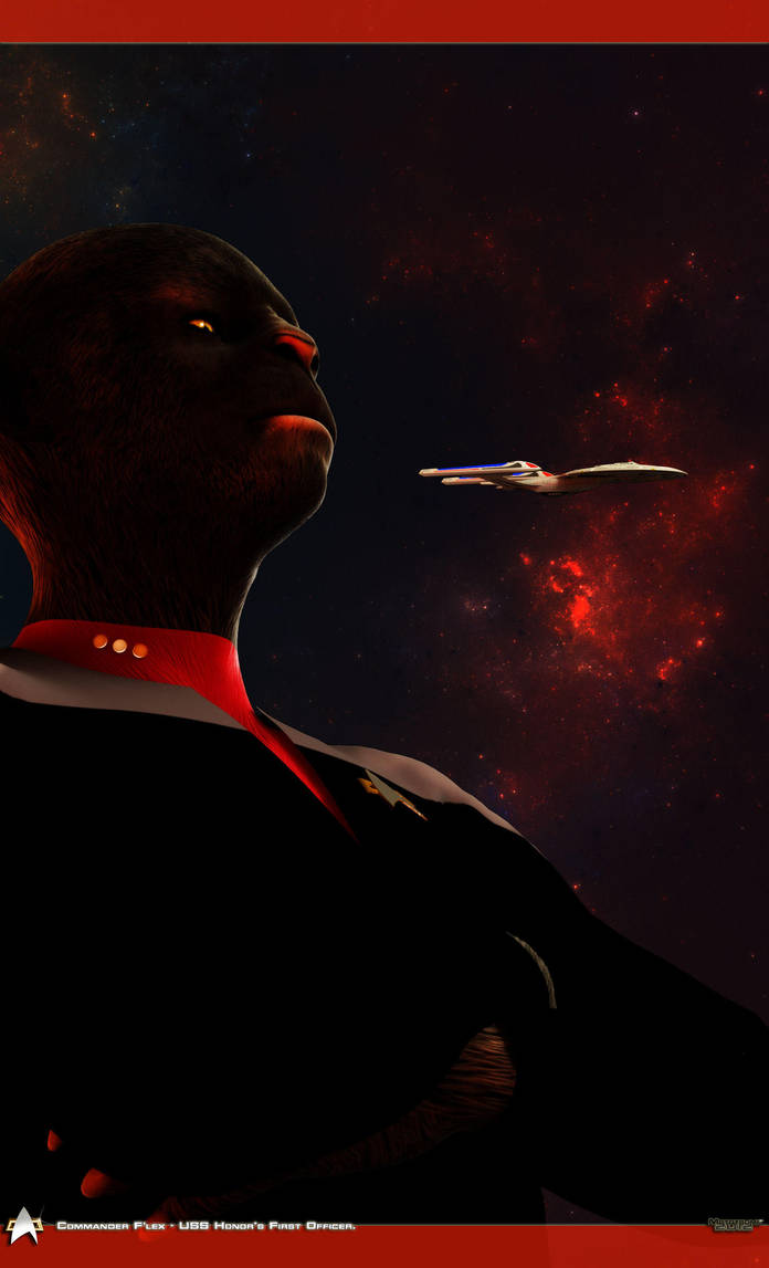 Cmdr. F'lex - First Officer of the USS Honor by MotoTsume
