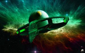 Romulan Warbird Departure by MotoTsume
