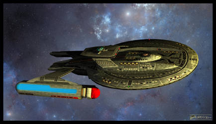 USS Titan - Luna Class Starship by MotoTsume