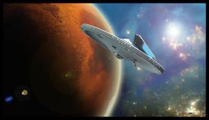 Eagle class entering orbit by MotoTsume