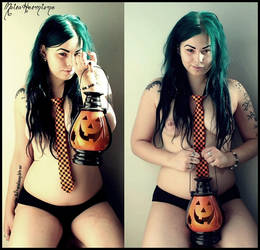 Halloween is here - the Pumpkin Lady. by MoiraHermione