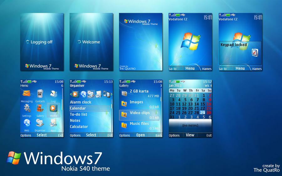 Windows 7 Nokia S40 Theme By Thequatro On Deviantart