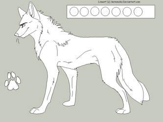 Free Male Wolf Lineart by AeroSocks