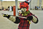 Fox fursuit by Swatthy